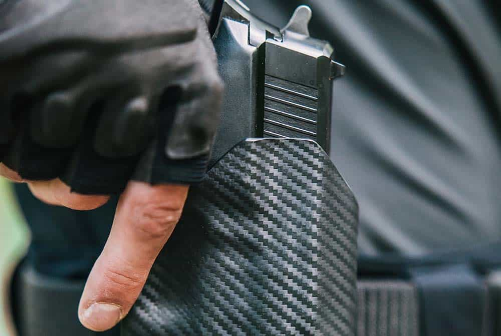 Carbon holster