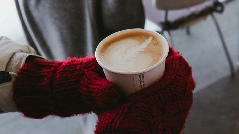 Hot coffee winter gloves