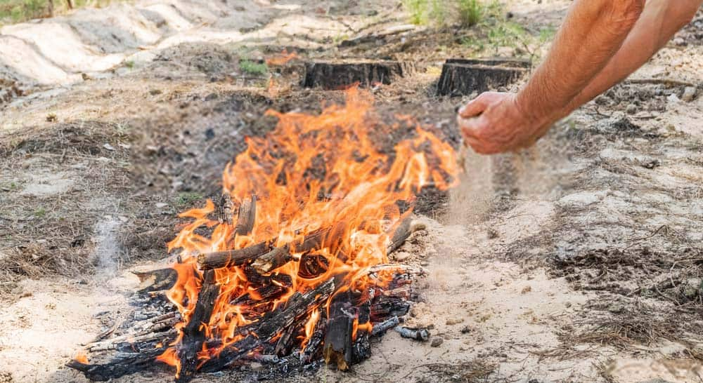 How to put out fire in the wild