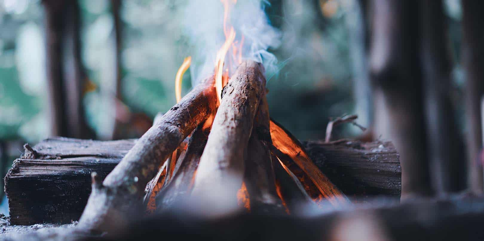 Start a fire in the wood