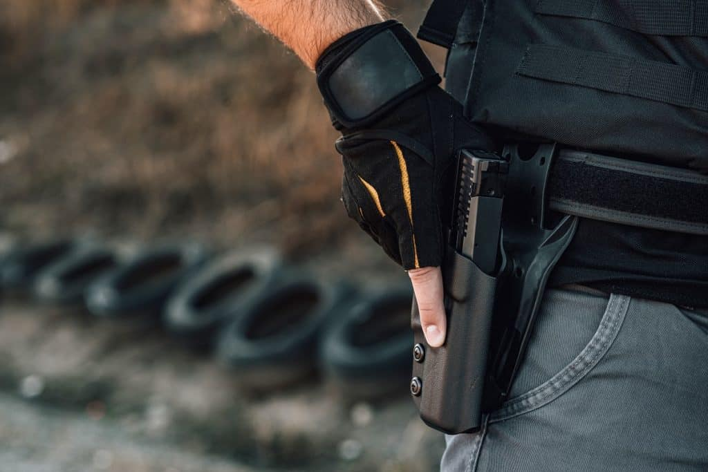 tactical holster on a belt