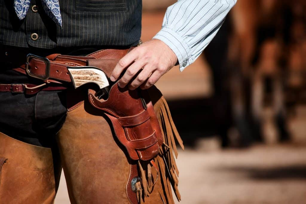Cowboy gunslinger belt