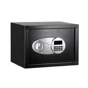 AmazonBasics-Steel,-Security-Safe-Lock-Box,-Black---0.5-Cubic-Feet
