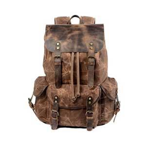 WUDON-Leather-Backpack-for-Men,-Waxed-Canvas-Shoulder