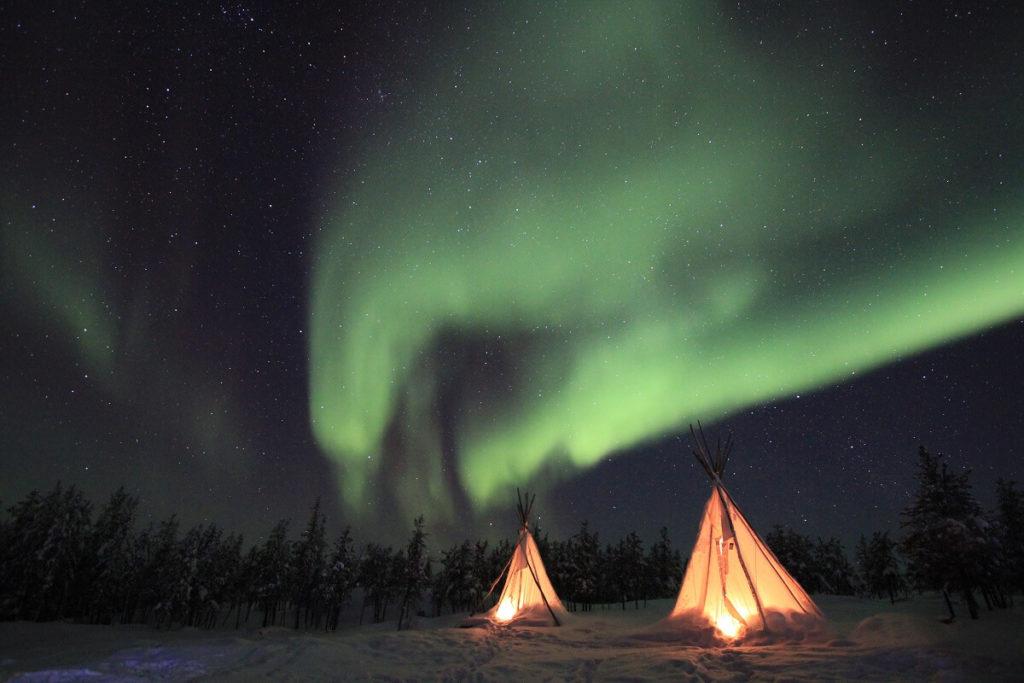 night lights camping life