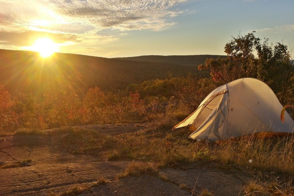 sunset shelter camping