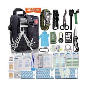 Monoki-First-Aid-Survival-Kit,-302Pcs-Tactical-Molle-EMT-IFAK-Pouch-Outdoor-Gear