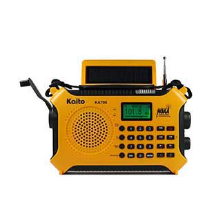 Kaito-KA700-Bluetooth-Emergency-Hand-Crank-Dynamo-&-Solar-Powered-AM-FM-Weather-NOAA-Band-Radio-with-Recorder-and-MP3-Player