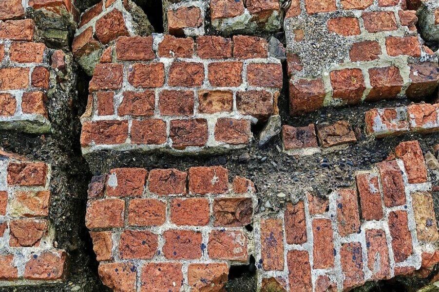 bricks after quake