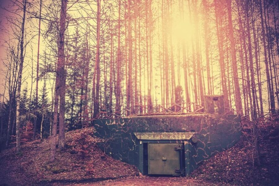 nuclear shelter outside