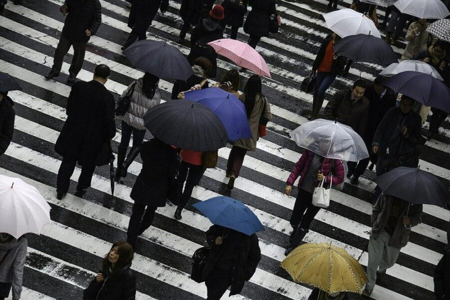 people rain