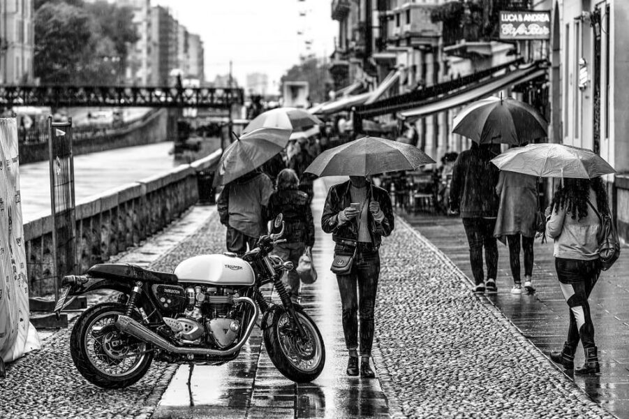 rain black and white