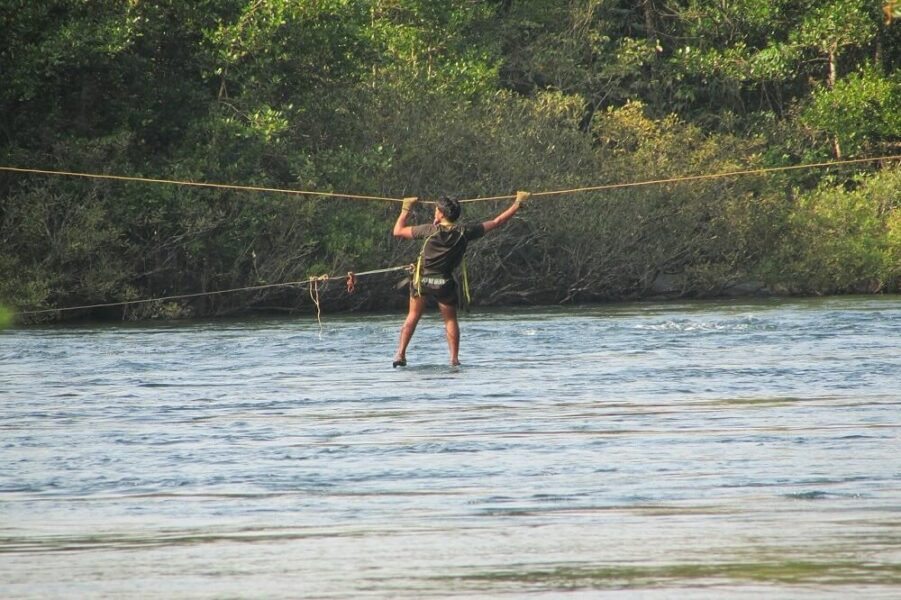 river crossing rope