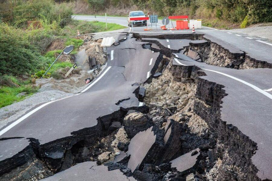 road earthquake